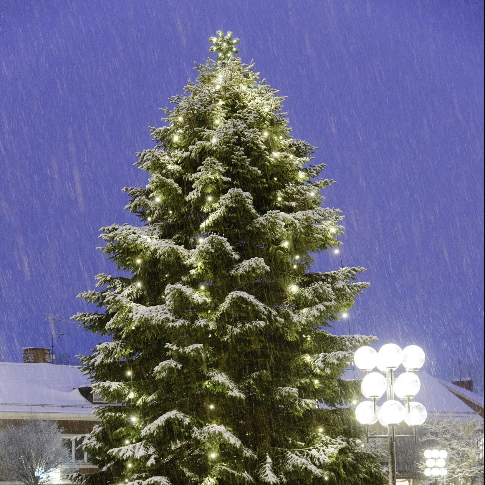 Julskyltning i Sävsjö