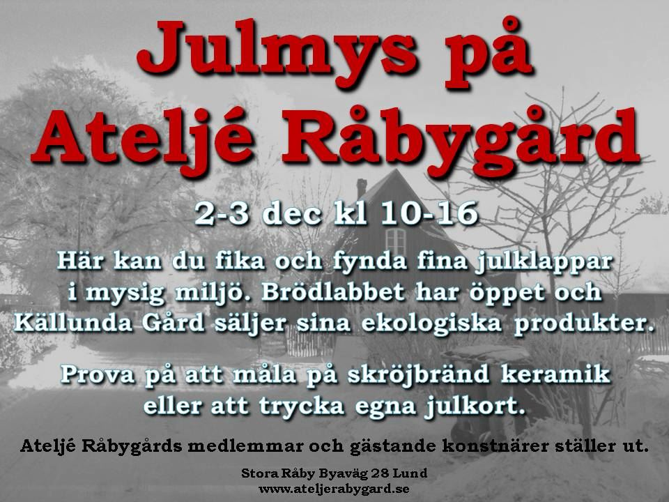 Christmas market at Ateljé Råbygård