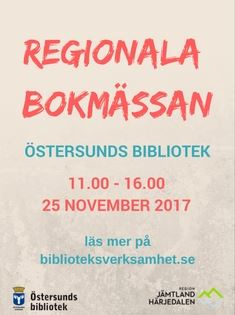 Foto:Östersunds Bibliotek,  © Copy: Östersunds Bibliotek, Regionala Bokmässan