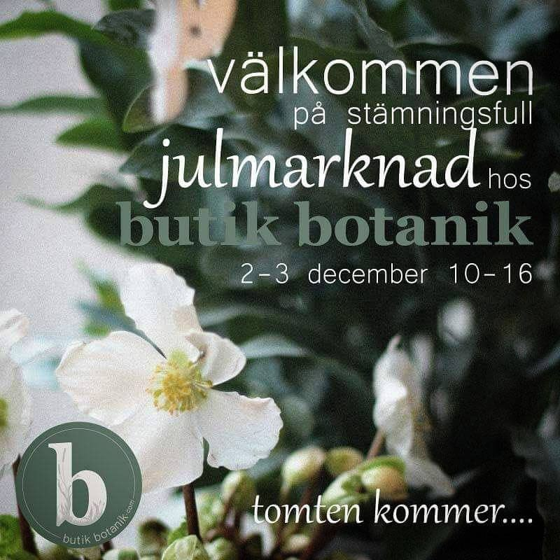 Julmarknad hos Butik Botanik