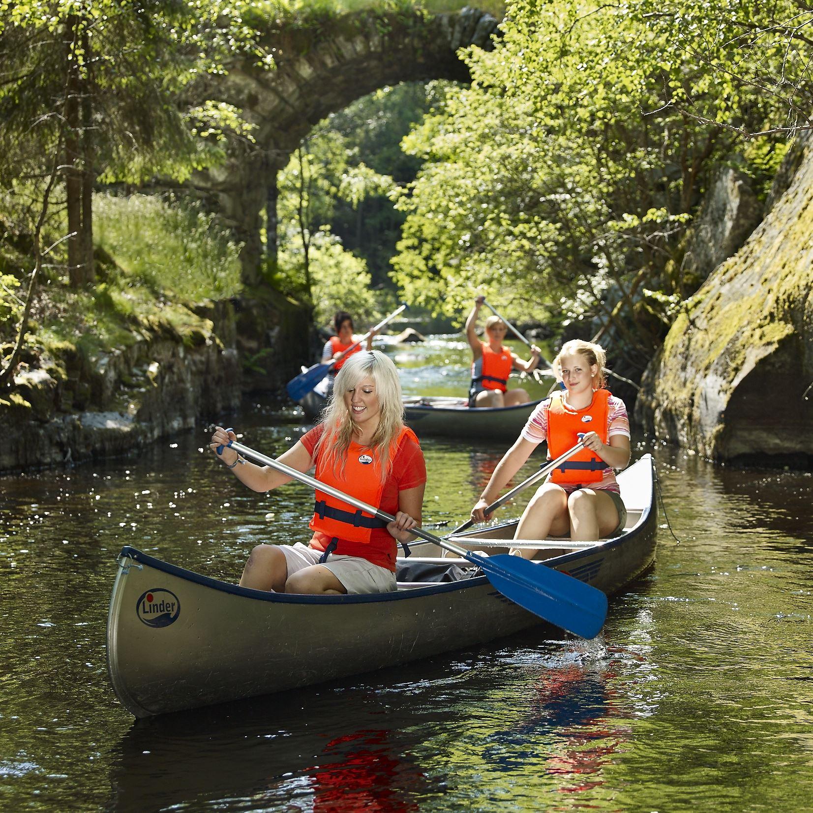 Paddeltur 4: Vieån/Verumsån, Lilla sjö > mynning i Helge å (24 km) + 12 km till Osbysjön.