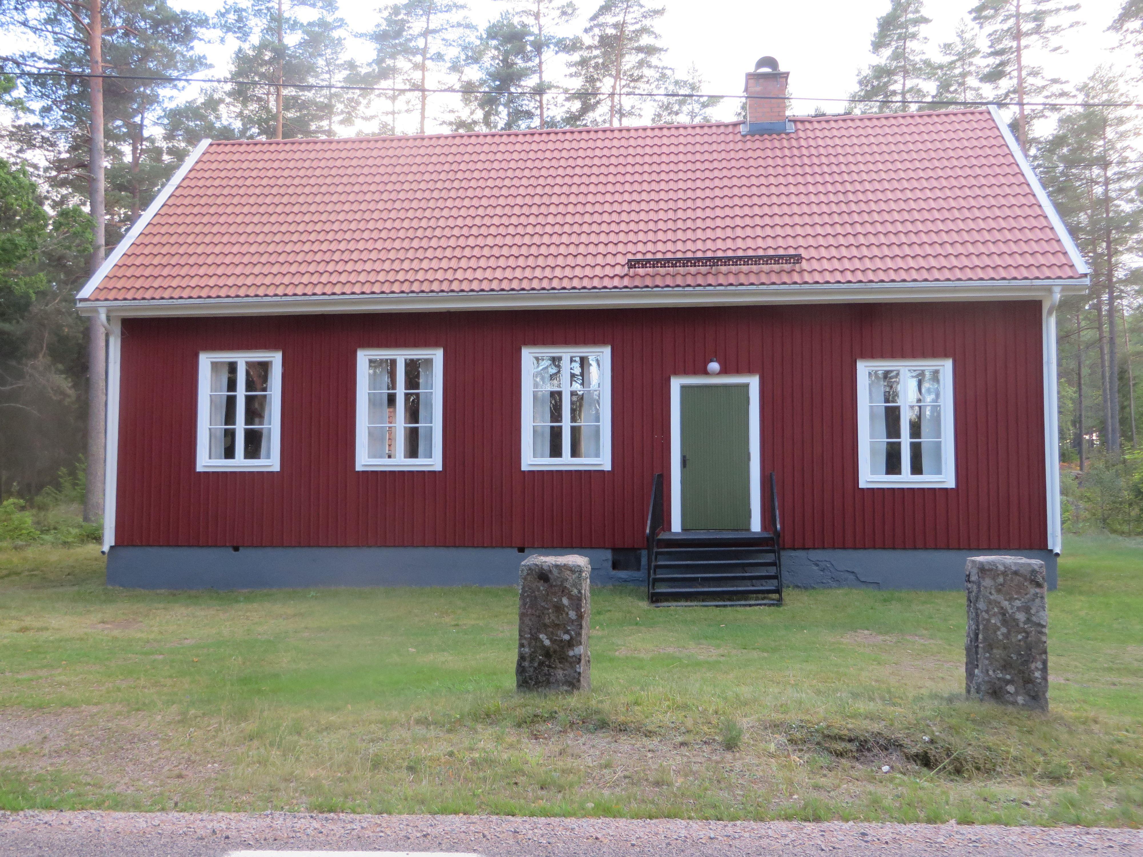 Missionsauktion i missionshuset i Björnhult