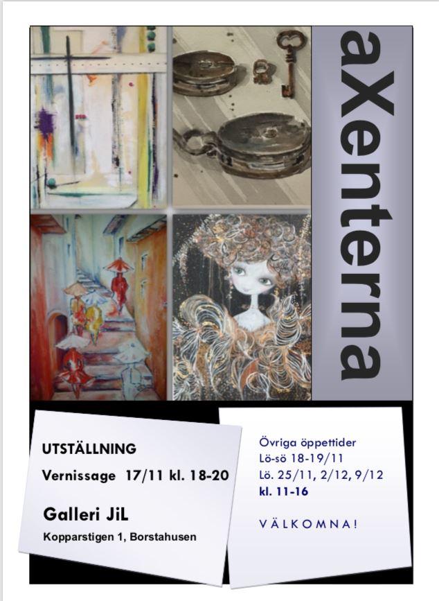 Utställning av konstnärsgruppen aXenterna