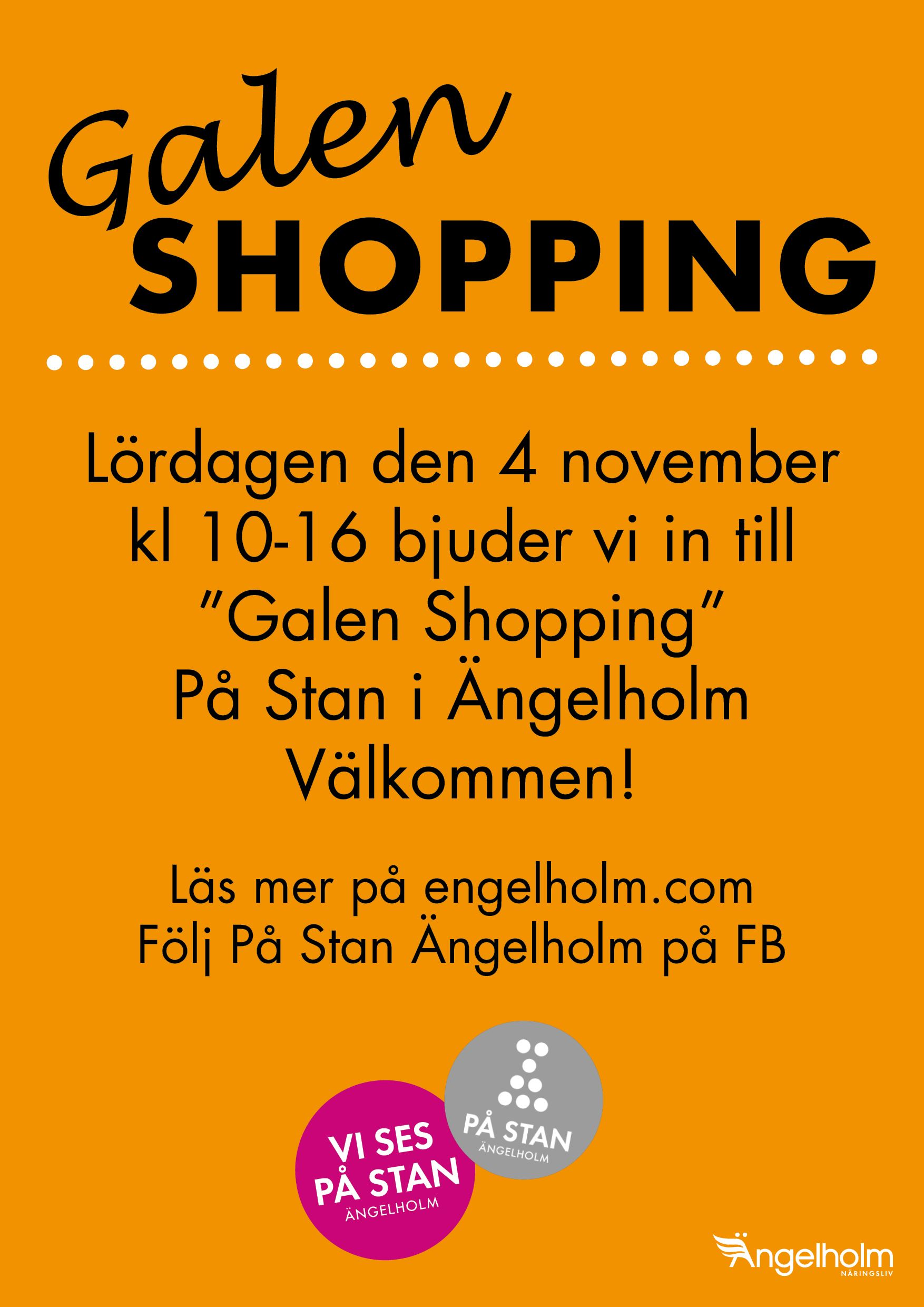 Galen shopping På stan