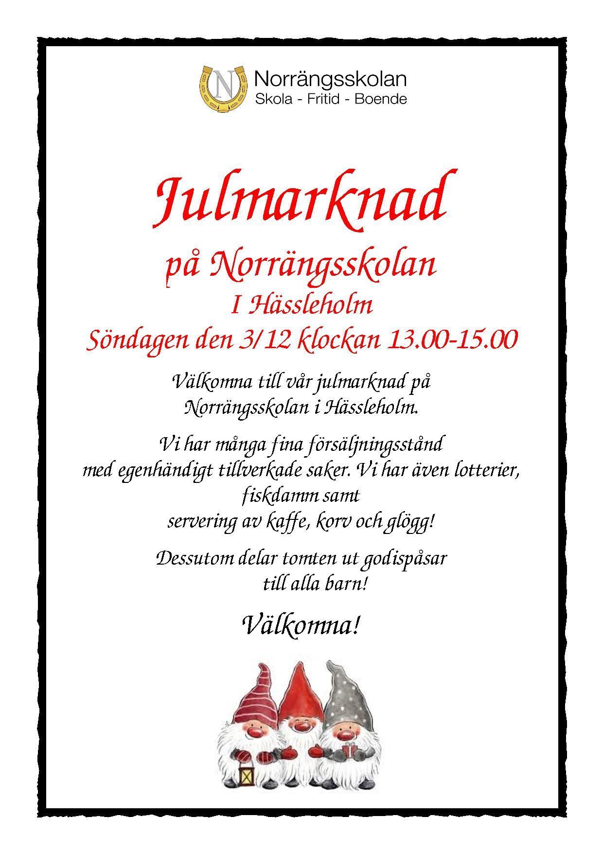 Julmarknad på Norrängsskolan