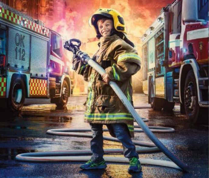 Family event: A day at the fire station in Saltvik