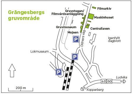Gruvcentrum Mojsen - Grängesbergs gruvområde