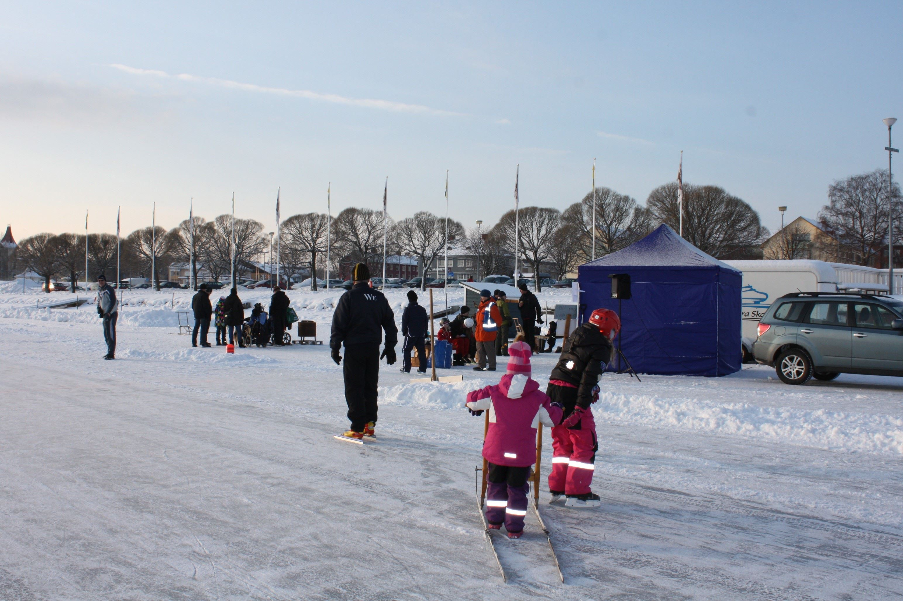 På isen - Skridskor