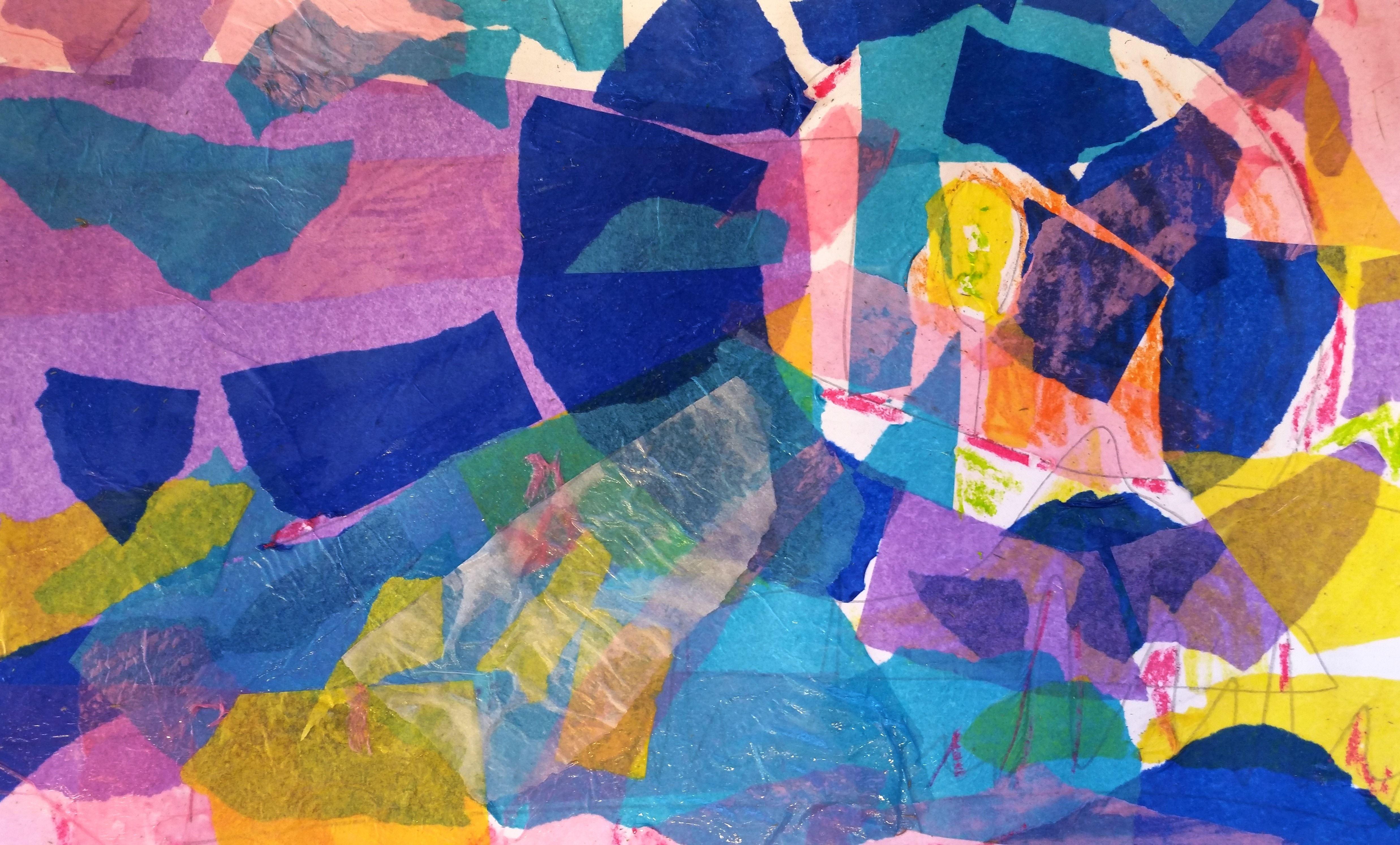 Collage med silkespapper