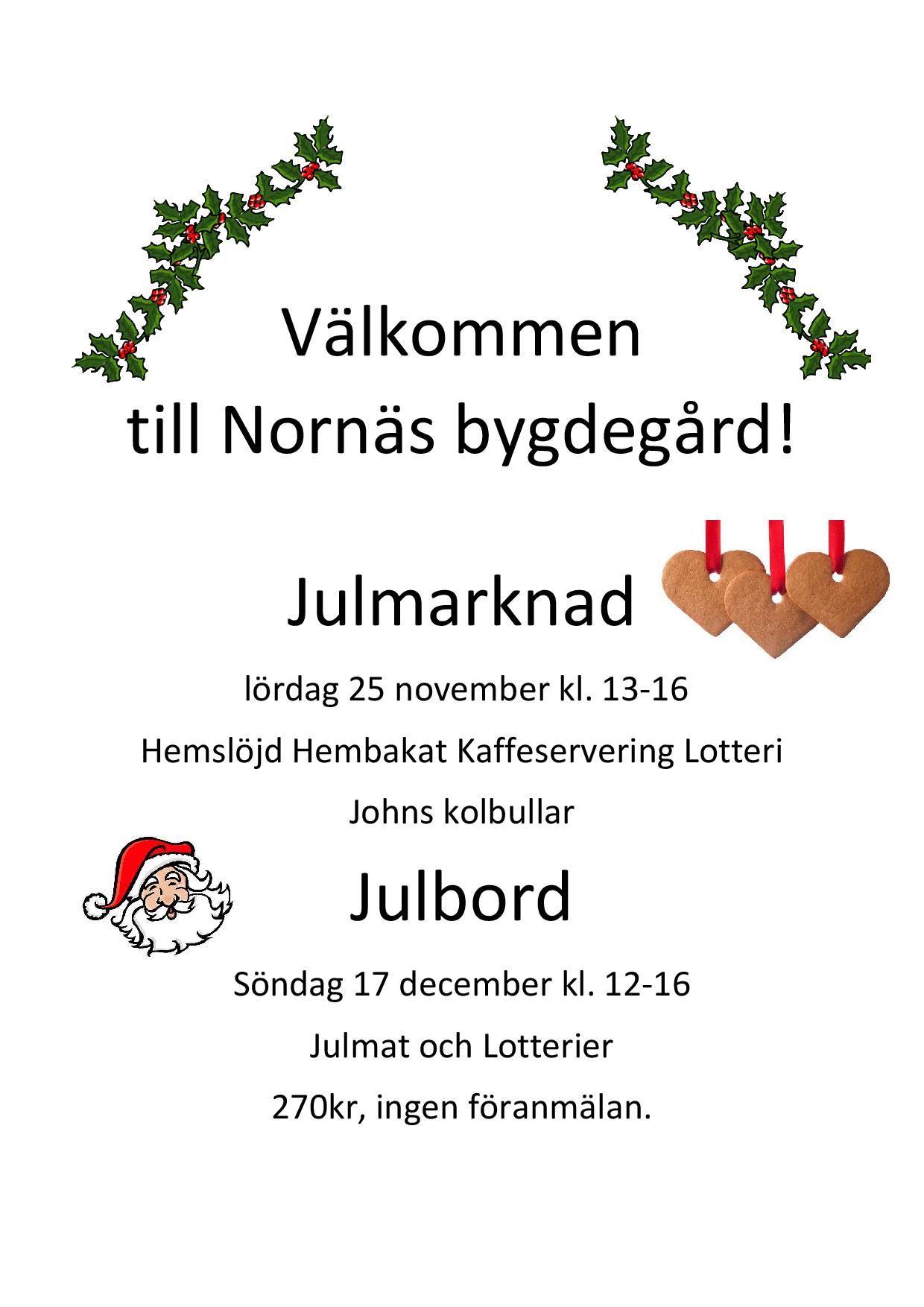 Julmarknad i Nornäs