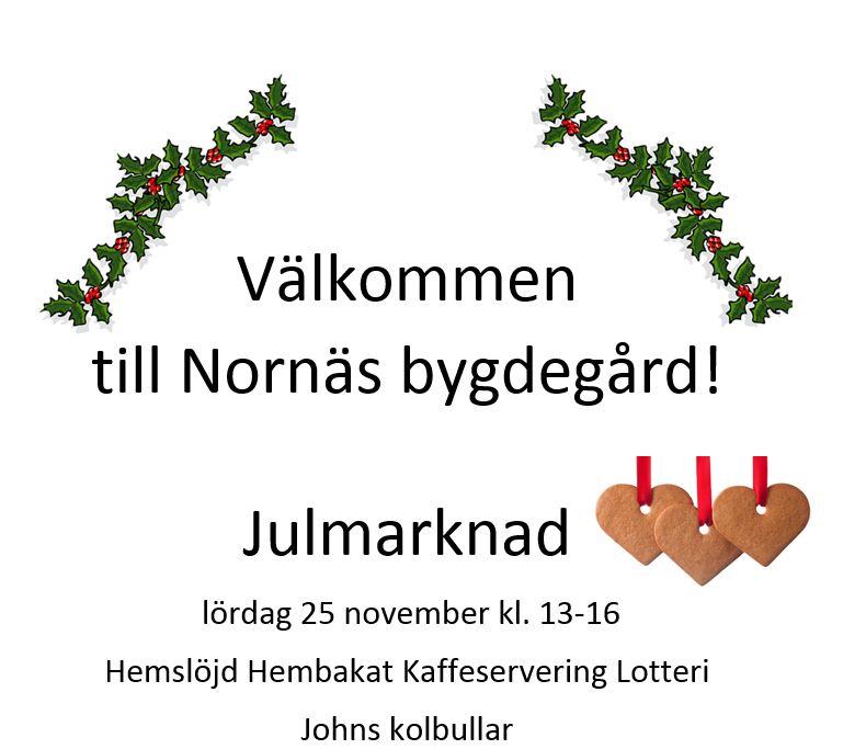 Julmarknad i Nornäs bygdegård