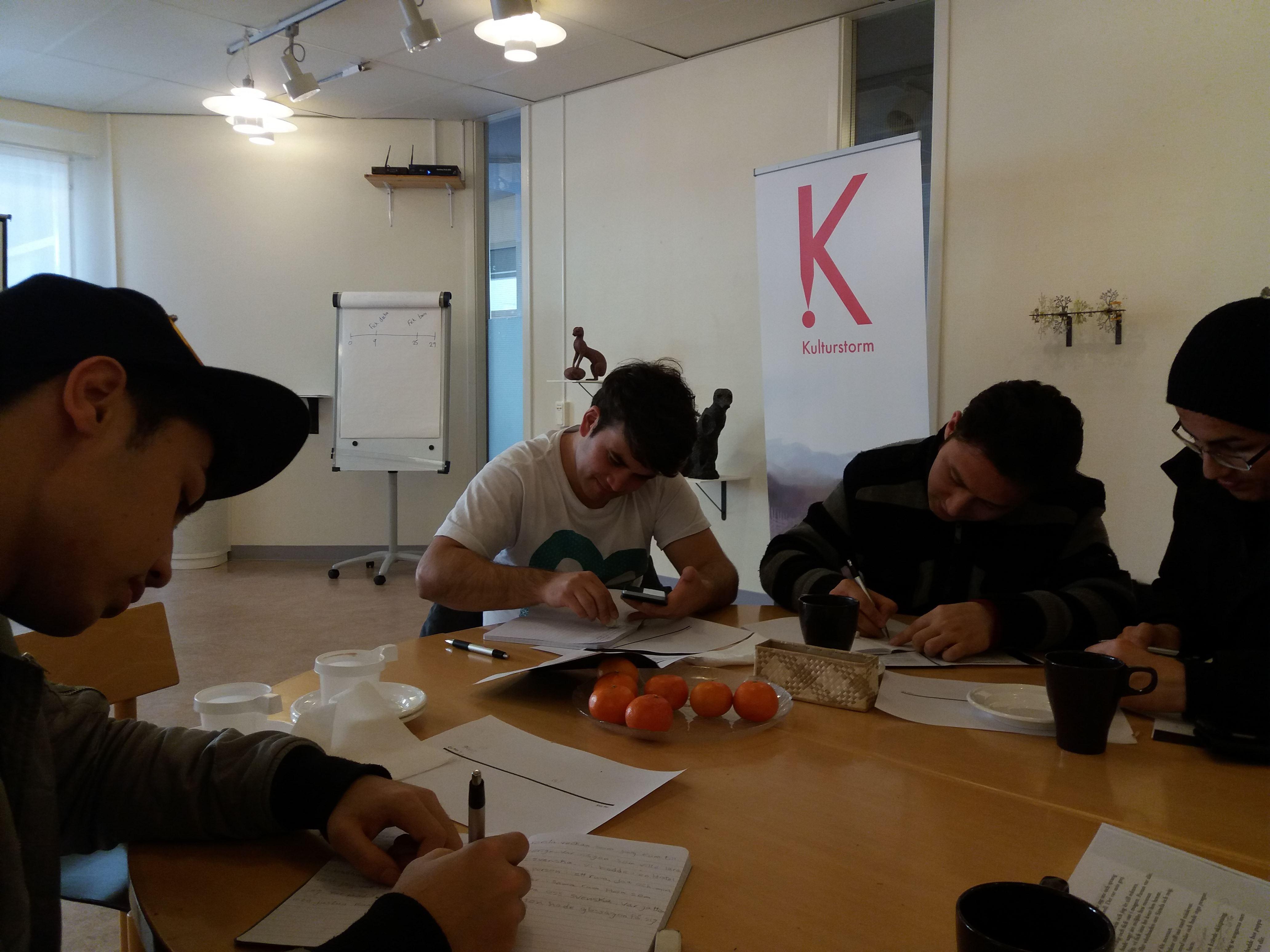 Elever som skriver