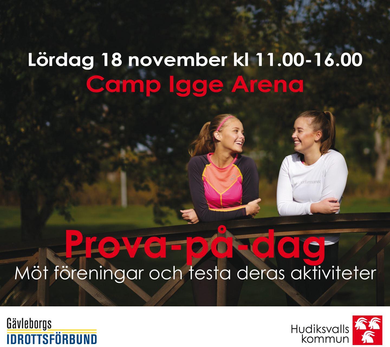 Prova-på-dag på Camp Igge 18 november