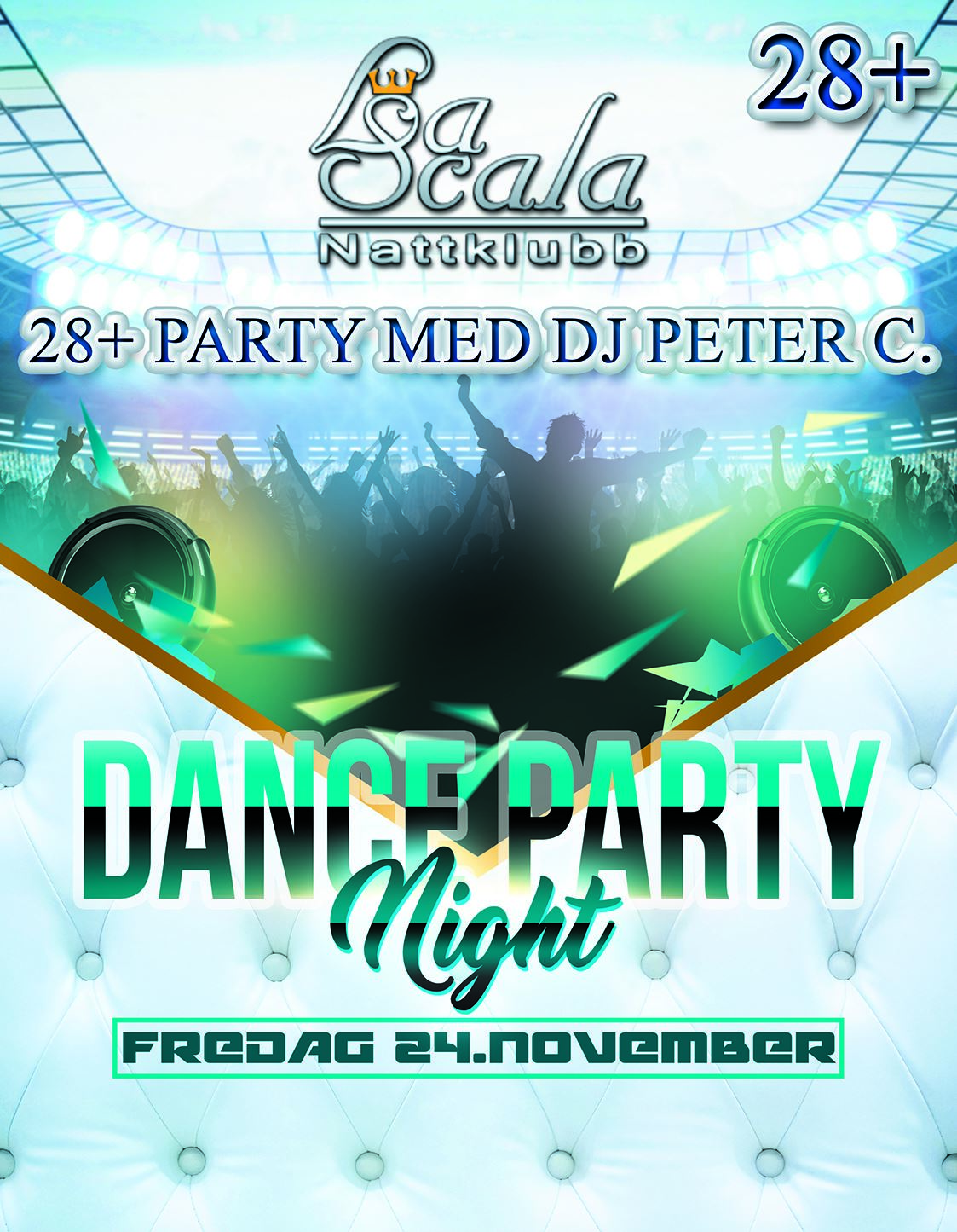 Dance Party Night 28+ på La Scala Nattklubb