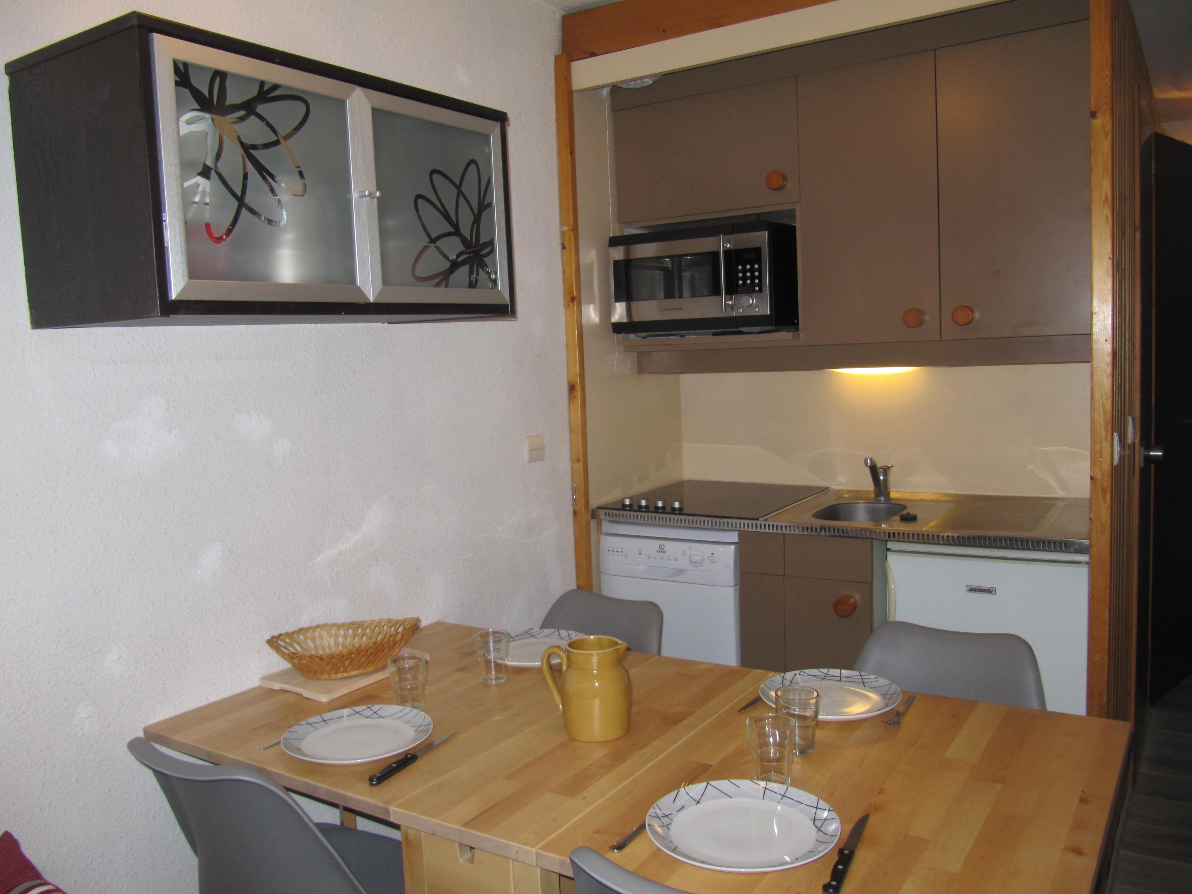Lauzières 208 > Studio + Cabine - 4 Personnes - 1 Flocon Bronze (Ma Clé IMMO)