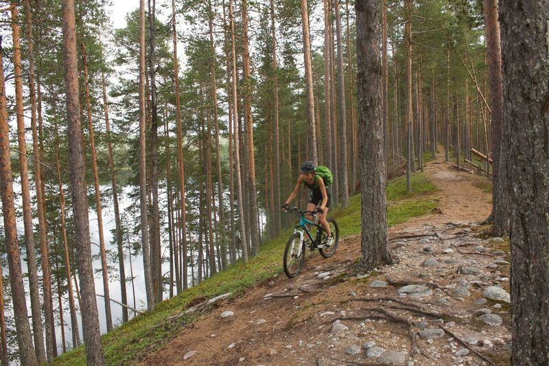 Petter Lämmås,  © Petter Lämmås, Isälvsleden mountainbike cykling