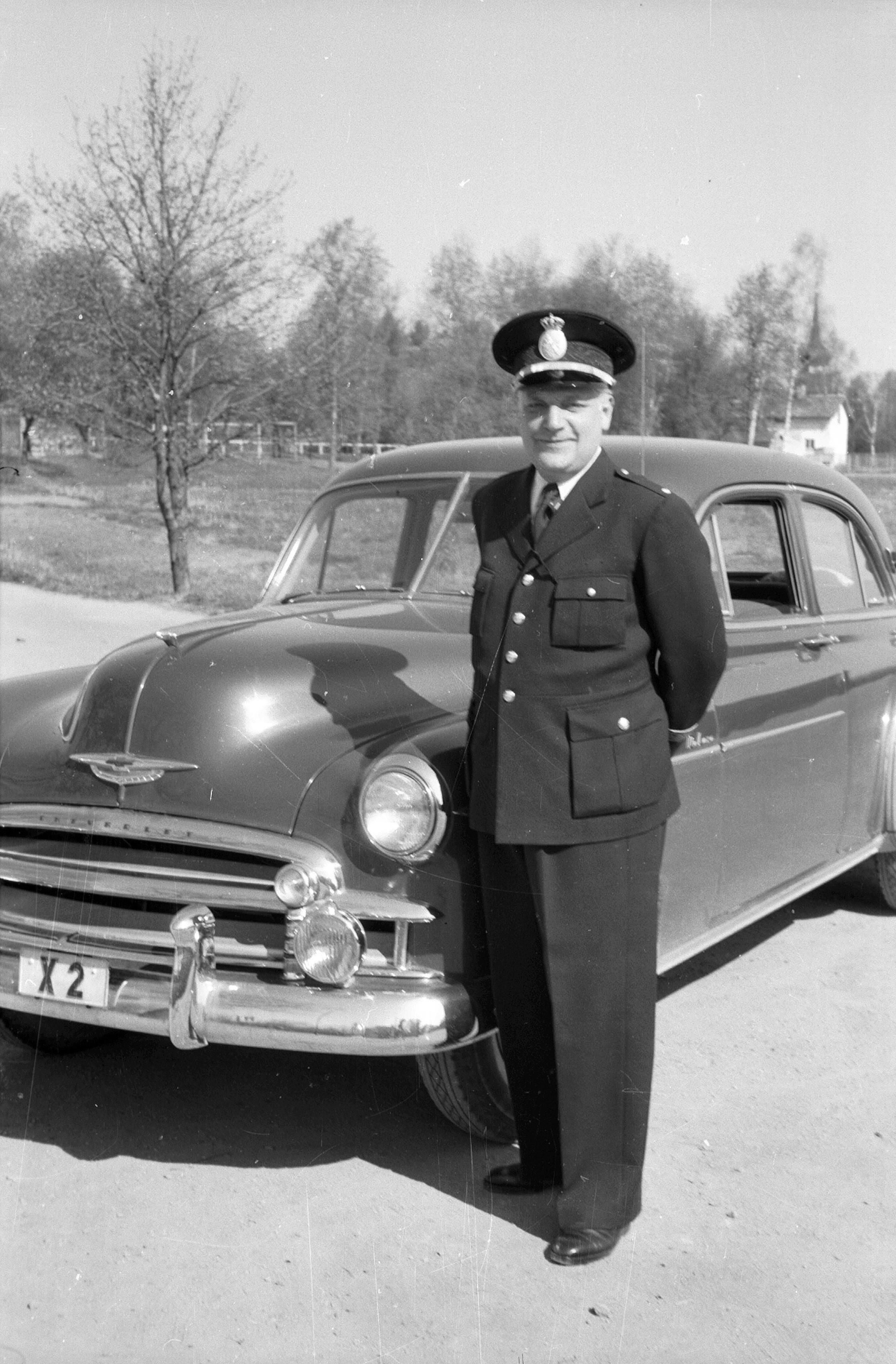 Carl Larsson, 1952, Polismästare Sven Berglund. Bildkälla: Länsmuseet Gävleborg.