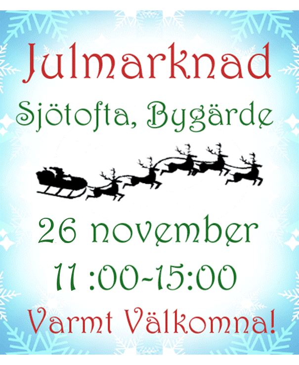 Julmarknad Bygärde Sjötofta