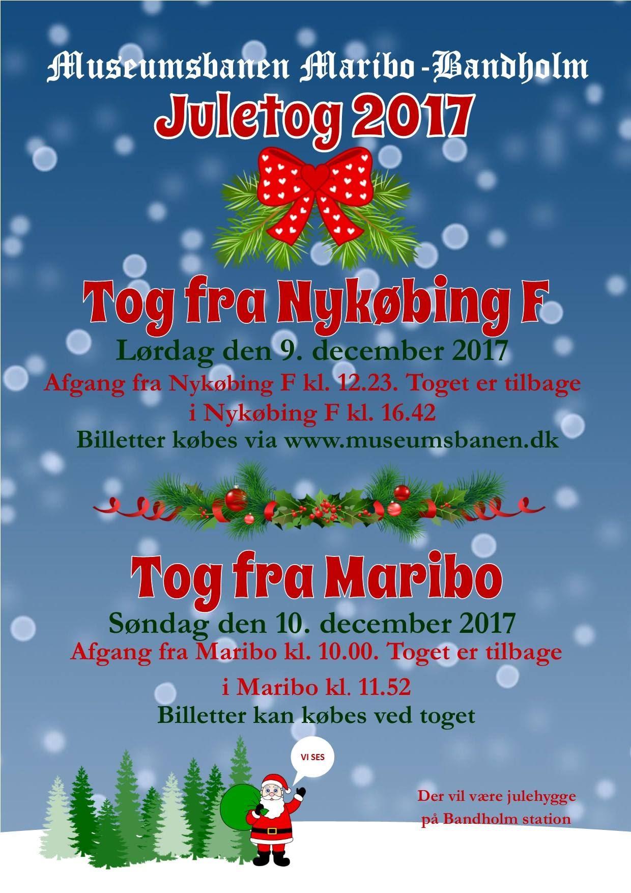 Fahrt mit dem historischen Weihnachtszug von Maribo nach Bandholm