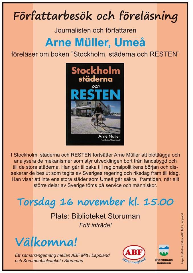 Författarbesök med Arne Müller