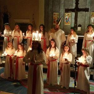 Luciahögtid i Berga kykra