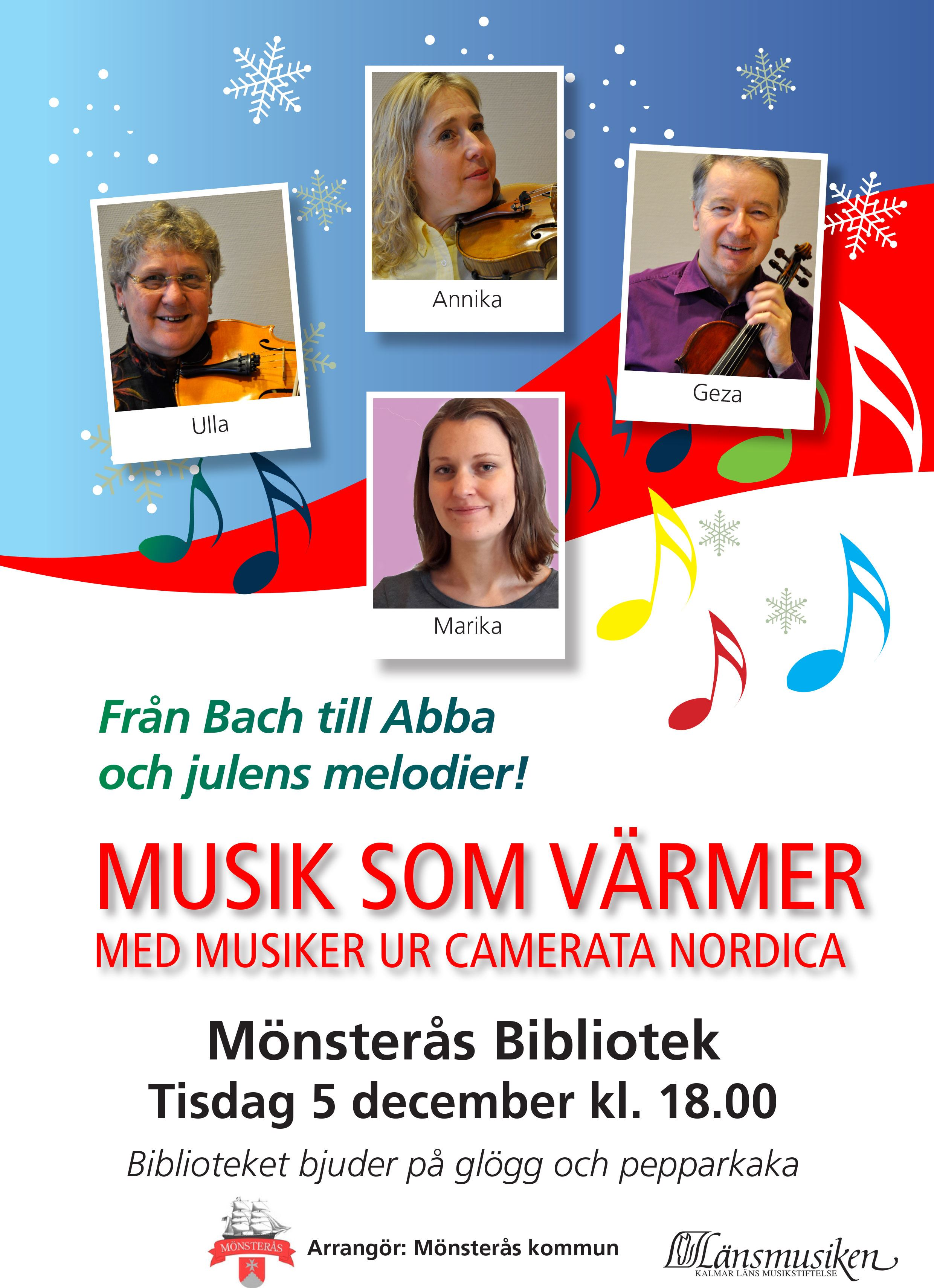 Musik som värmer med musiker ur Camerata Nordica