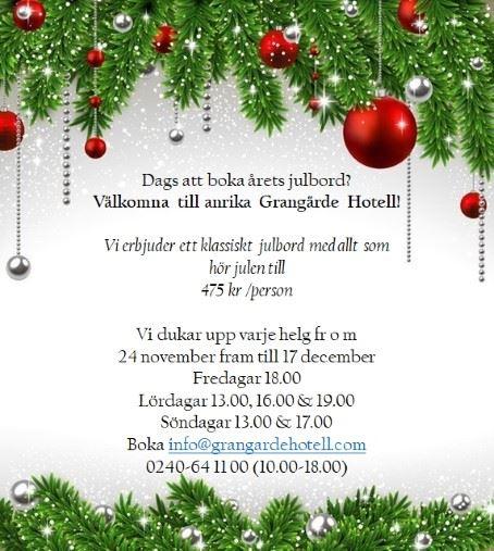 Grangärde Hotell - Julbord