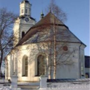 Orsa kyrka, vinter.