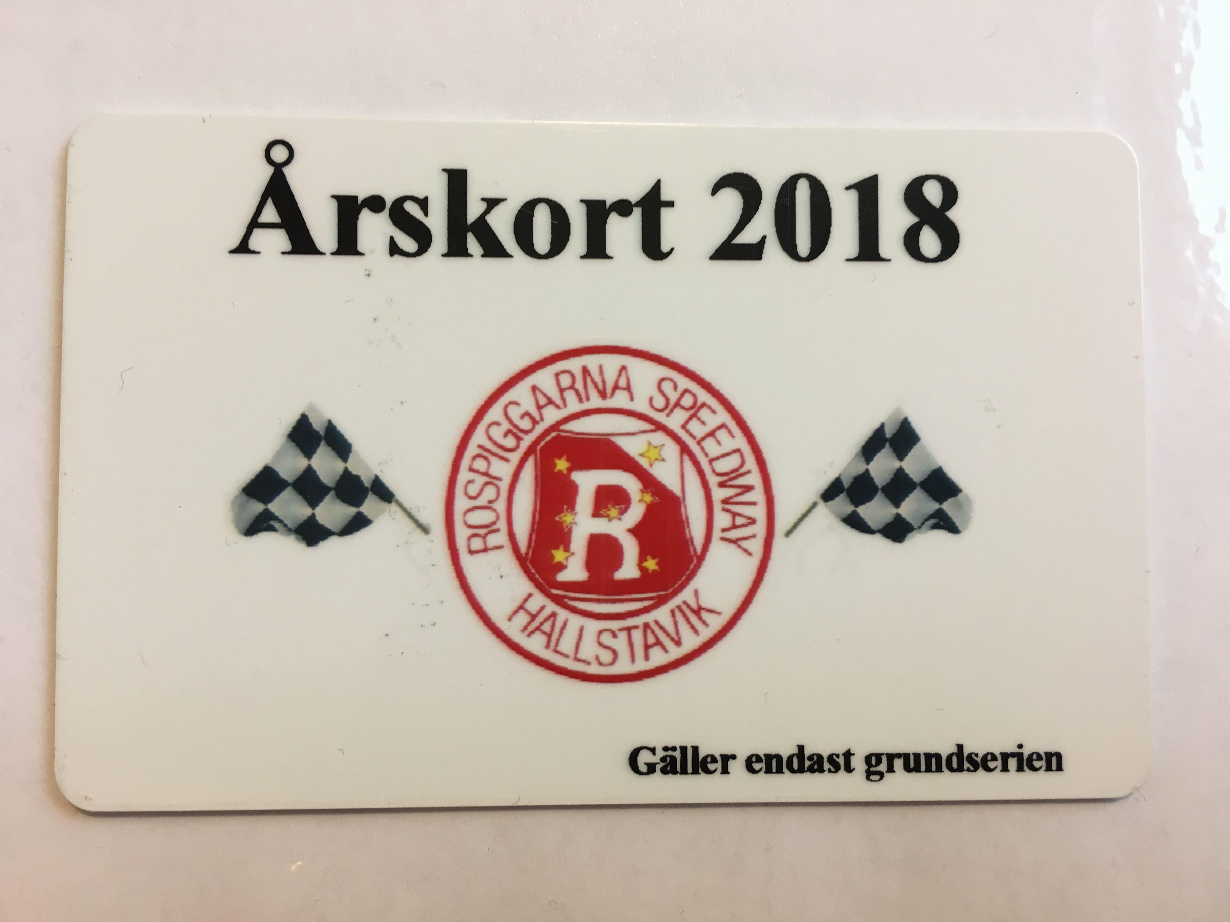 Årskort 2018 - Rospiggarna Speedway