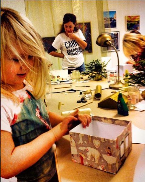 Julstämningsworkshop med konstnären Karin Sten