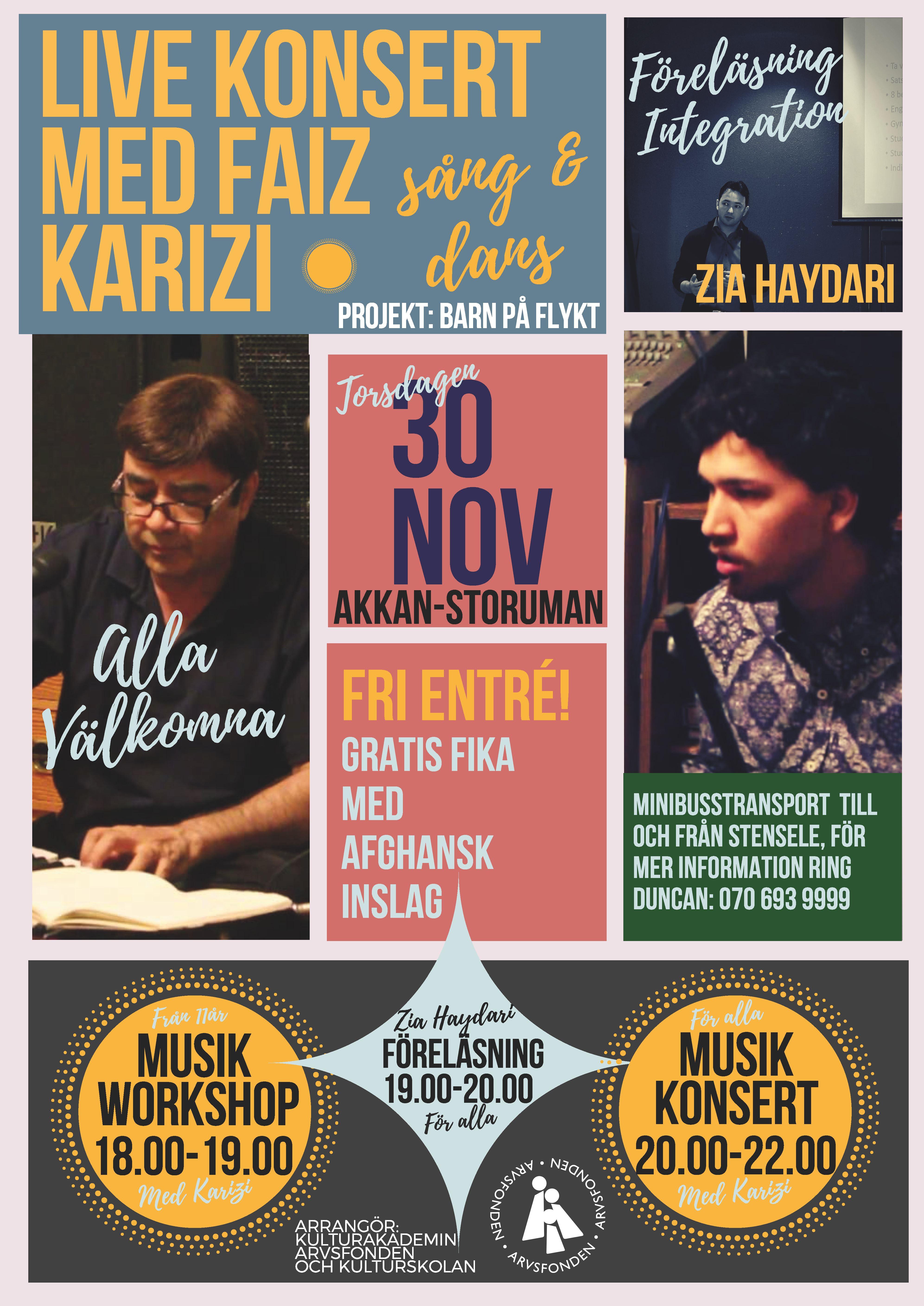 Livekonsert med Faiz Karizi
