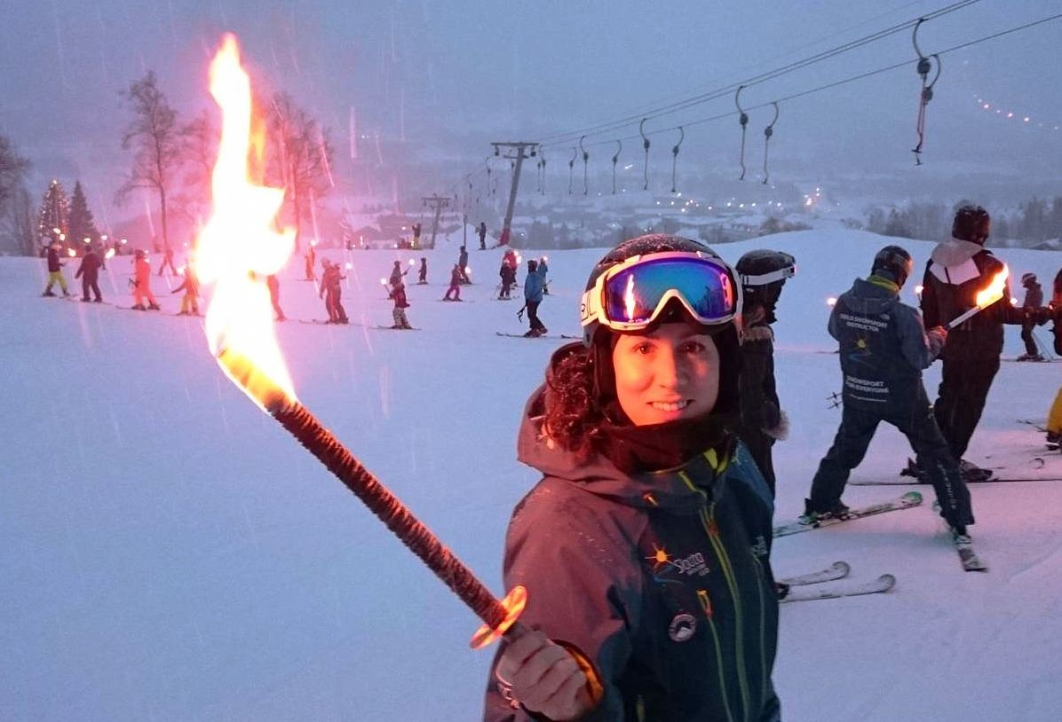 © Slaatta Skisenter, Ski with a torch light