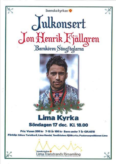 Julkonsert med Jon Henrik Fjällgren