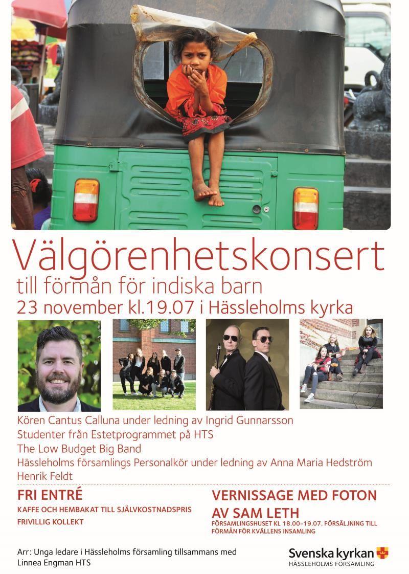 © https://www.svenskakyrkan.se/hassleholm/valgorenhetskonsert-till-forman-for-indiens-barn, Välgörenhetskonsert till förmån för indiska barn