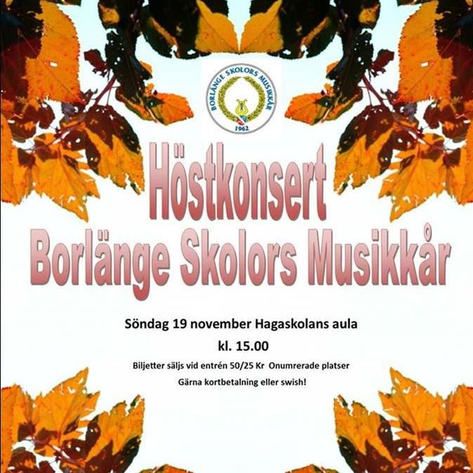 Höstkonsert med Borlänge Musikkår och Drill