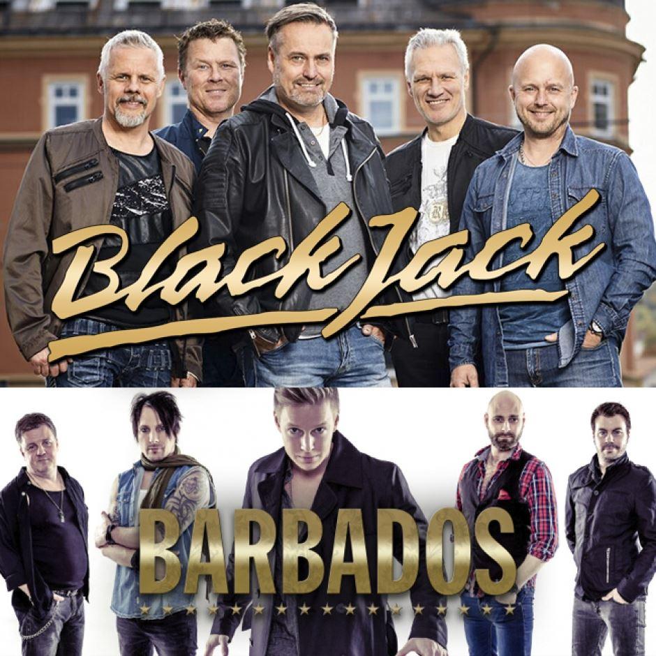 Black Jack & Barbados spelar på Hotell Hallstaberget