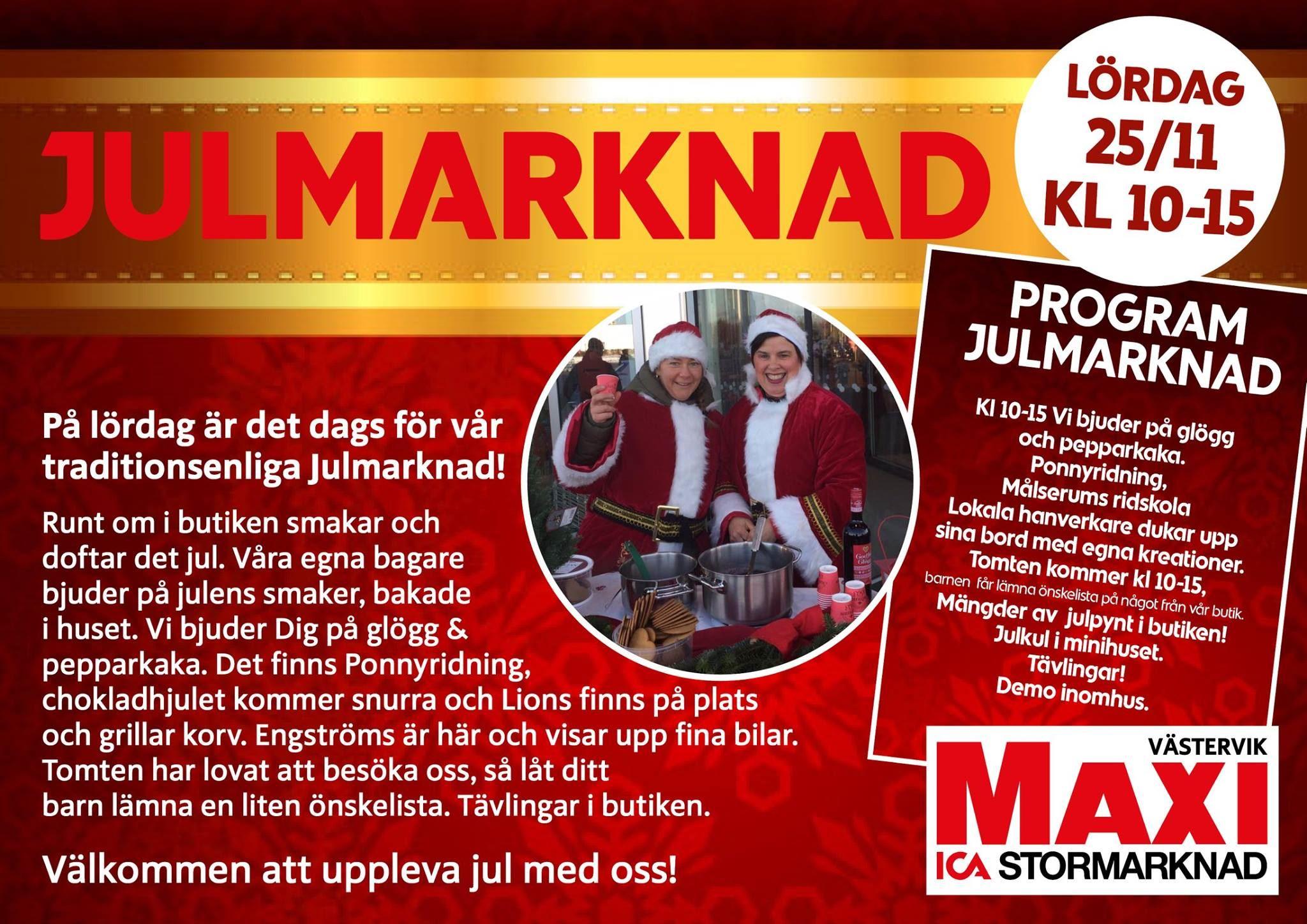 Julmarknad på ICA Maxi Västervik