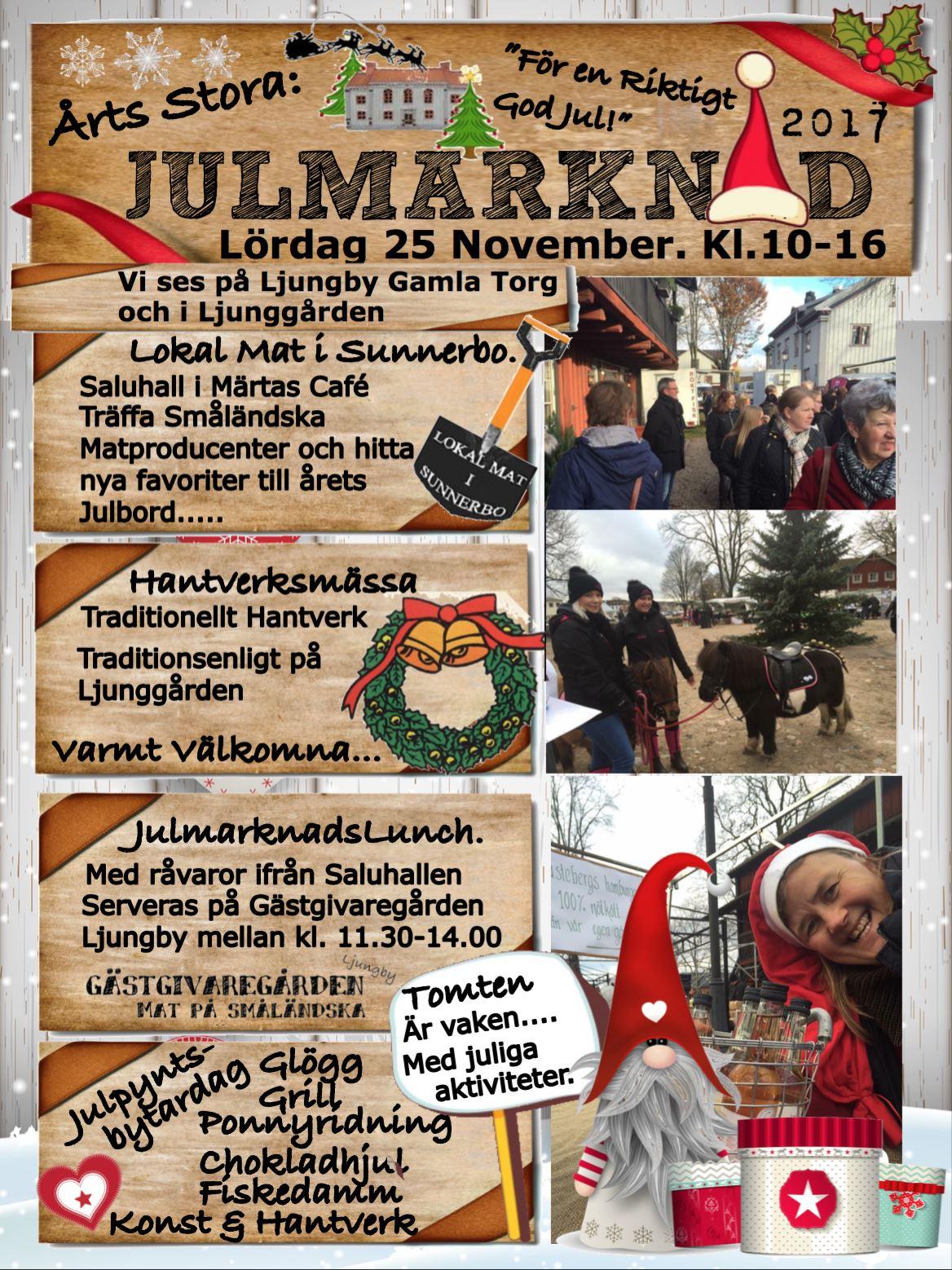 Julmarknad med Lokal Mat i Sunnerbo