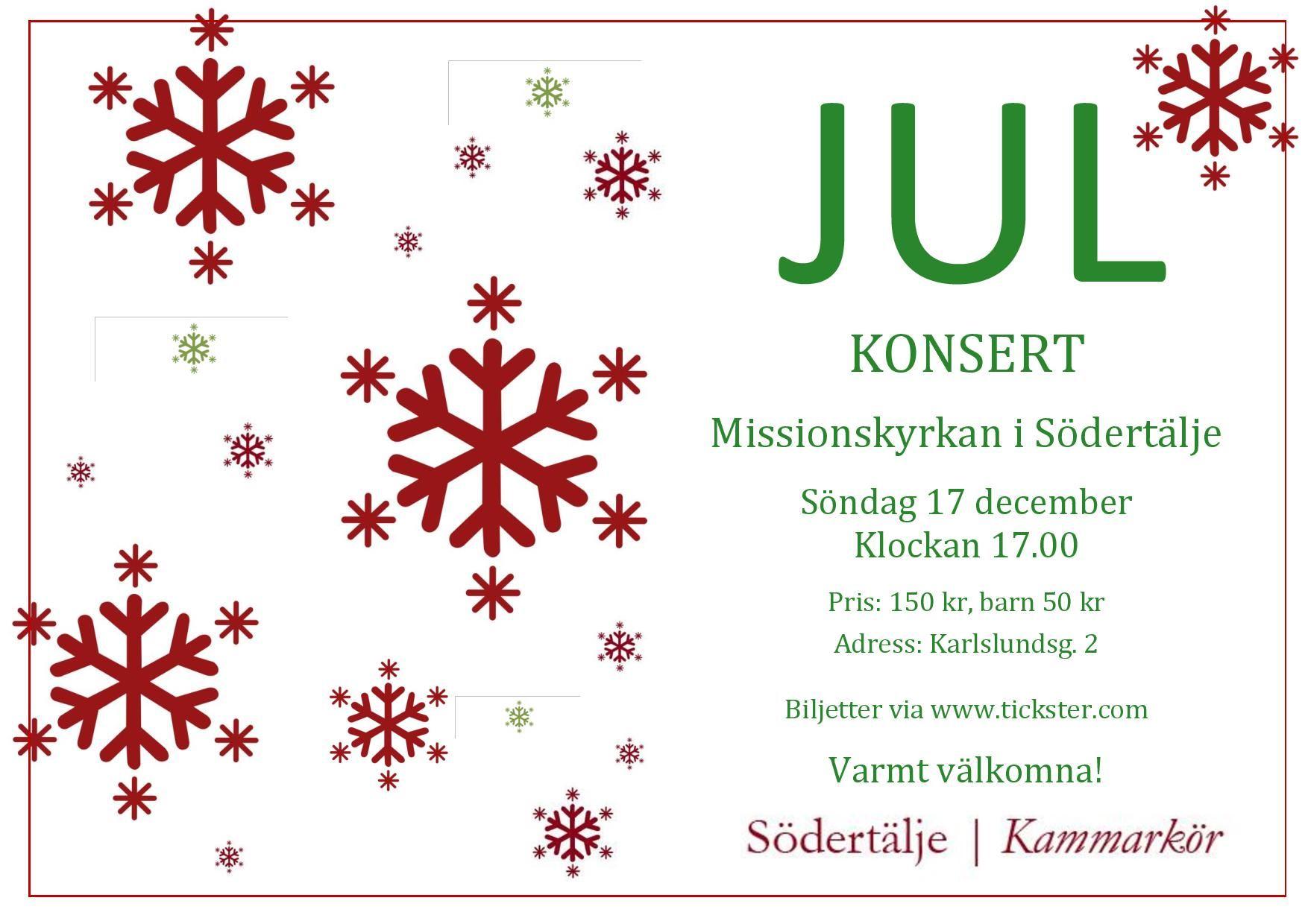 Julkonsert i Missionskyrkan