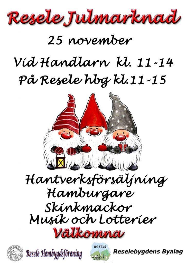Julmarknad på Resele hembygdsgård & Handlarn