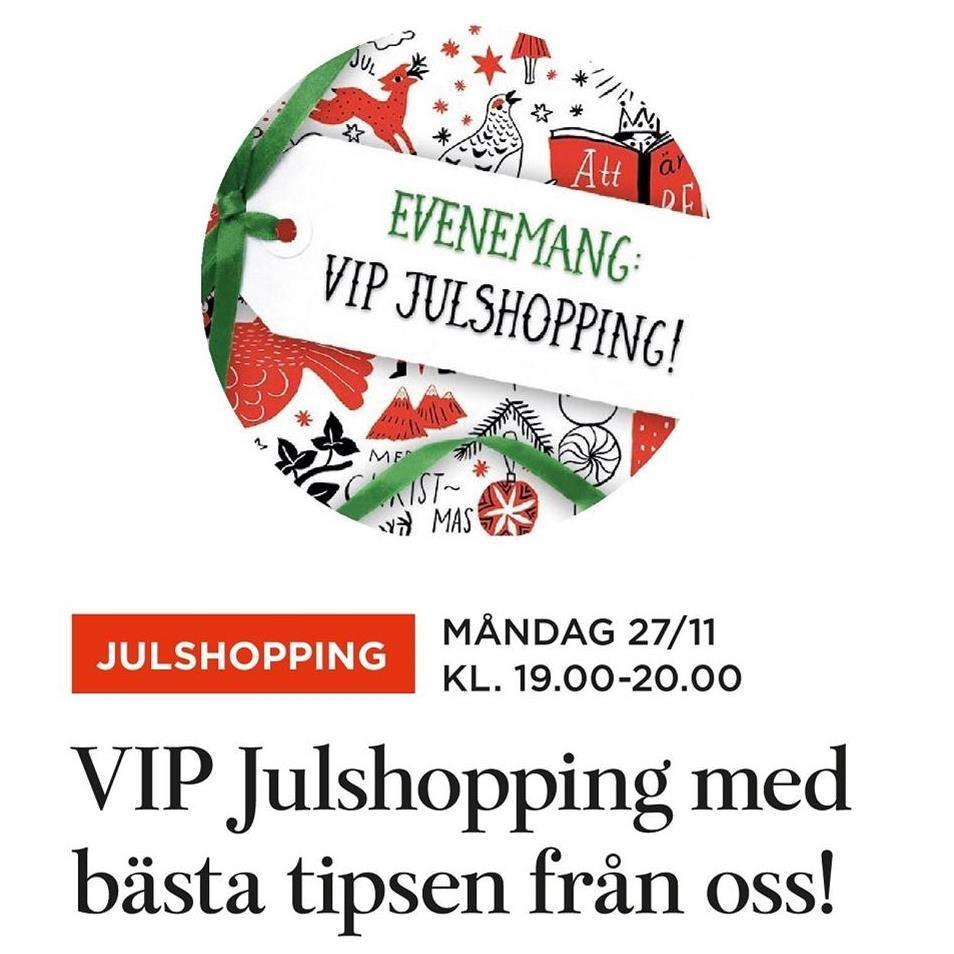 VIP Julshopping på Akademibokhandeln Kl 19-20