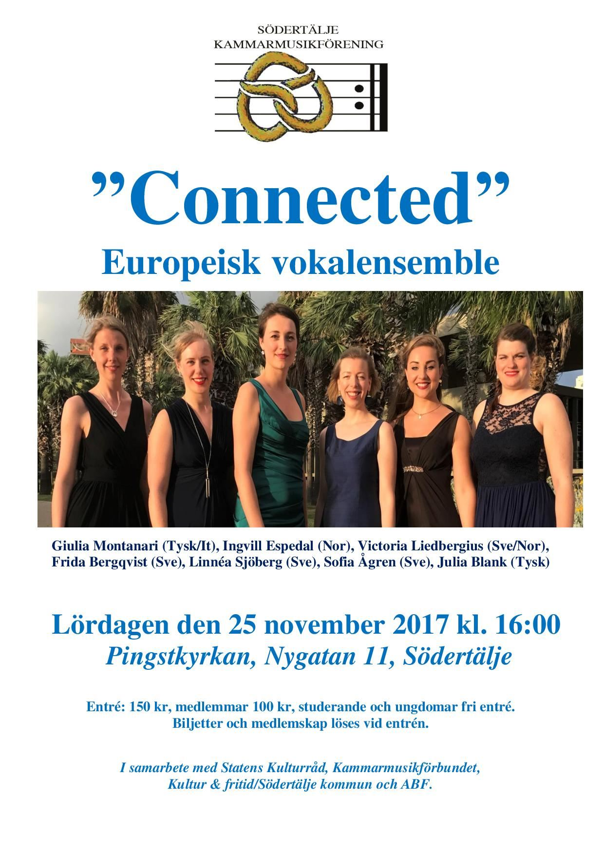 """Connected"" Europeisk vokalensemble"