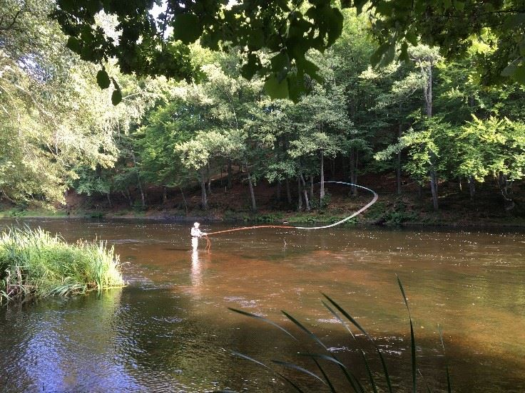 Fly fishing course for double handed rods, 2 nights