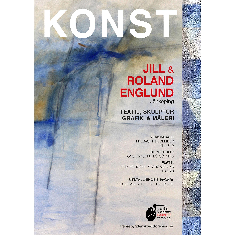 Utställning -  Jill och Roland Englund visar skulptur, textil och måleri