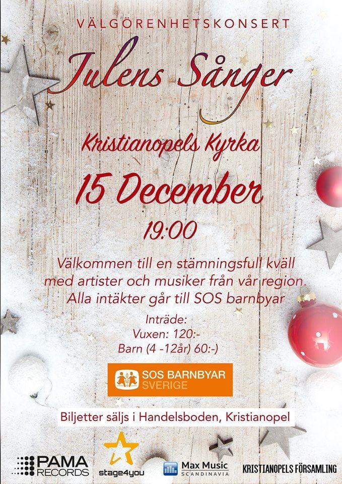 Välgörenhetskonsert i Kristianopel - Julens Sånger