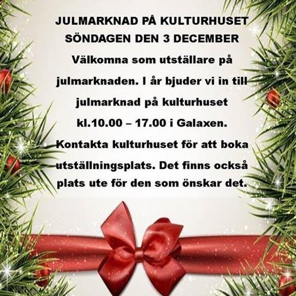 Julmarknad på Kulturhuset