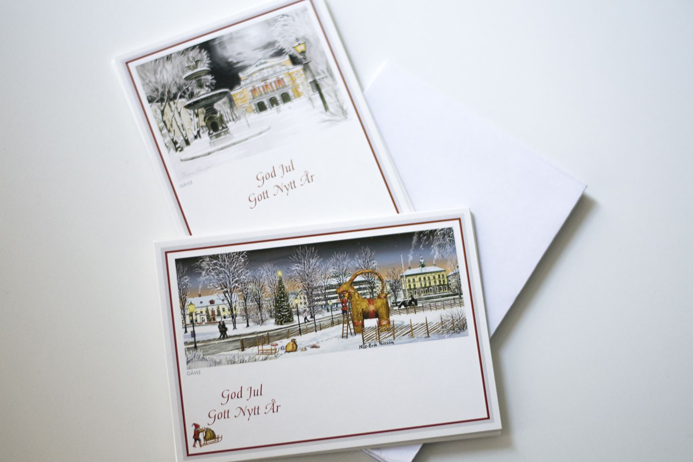 Julkort - Gävlemotiv