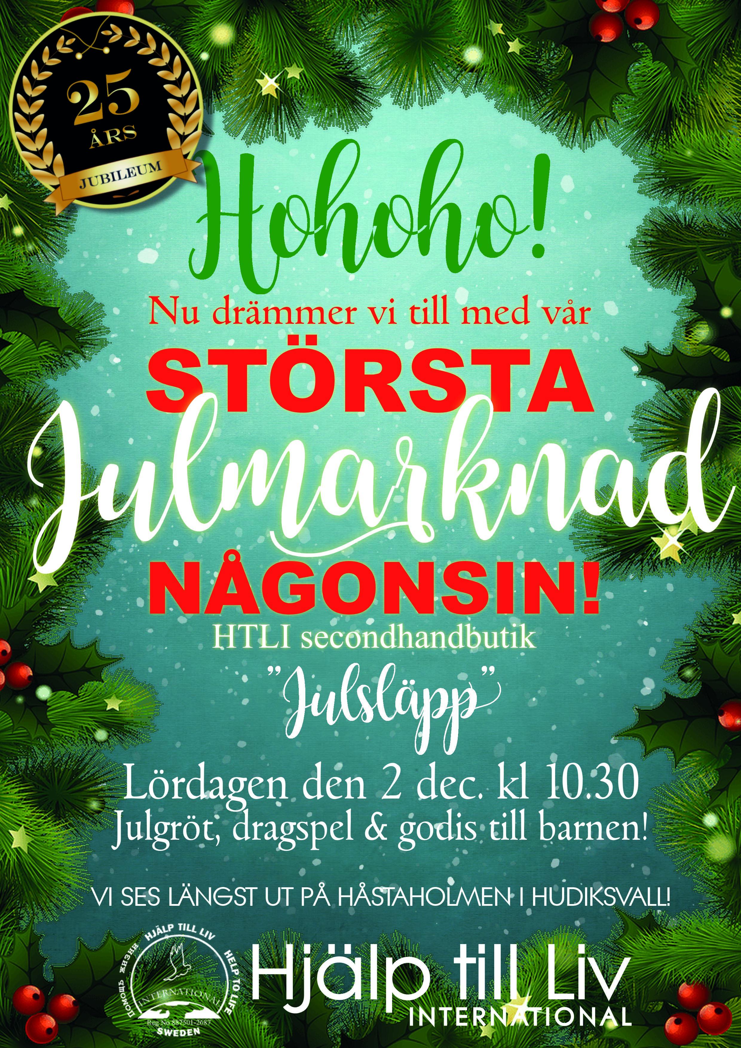 Hjälp till Livs största Julmarknad hittills!