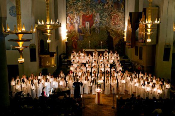 Luciaföreställning Stora Kyrkan
