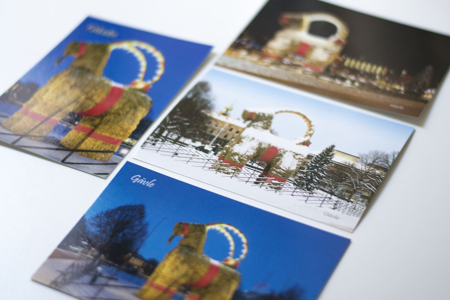 Four post cards – the Gävle Goat